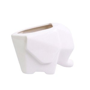 Cachepot Elefante Branco