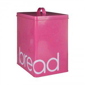 Lata Metal Porta Pão Bread Pink