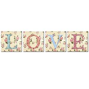 Conjunto de Quadros LOVE