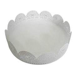 Bandeja Fancy Lace Redonda Pequena