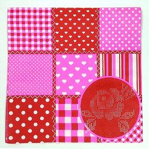 Guardanapo Decorado em Papel Pink Patch