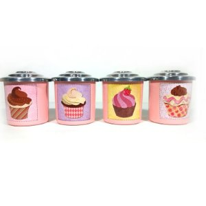 Porta Condimentos Cupcake - Rosa bebê
