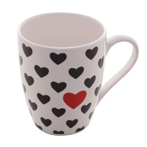Caneca de Porcelana Heart With Love