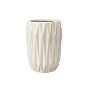 Porta Objeto de Cerâmica Wave Branco