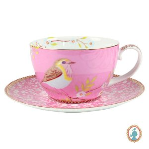 Xícara de Chá Floral Early Bird - Rosa - Pip Studio