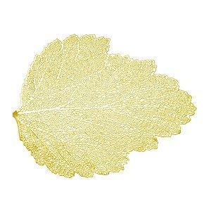 Lugar Americano de Plástico Autumn Leaf Dourado