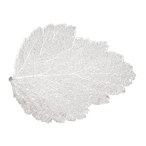 Lugar Americano de Plástico Autumn Leaf Prateado