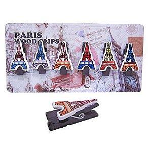 Mini Prendedor - Torre Eiffel