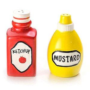 Saleiro e Pimenteiro Ketchup e Mostarda - Lyor