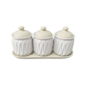 Trio de Potiches de Cerâmica Wave