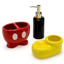Kit para banheiro Mickey Mouse Parts