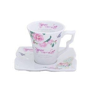 Conjunto de 6 Xícaras para Café Flowers - Lyo