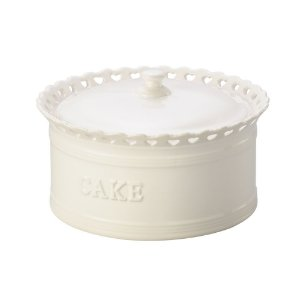 Pote com tampa Branco - Cake Heart