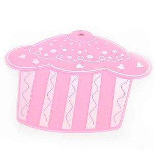 Descanso Panela de Silicone Cupcake Rosa Bebê