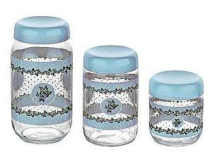 Conjunto de 3 Potes Florais