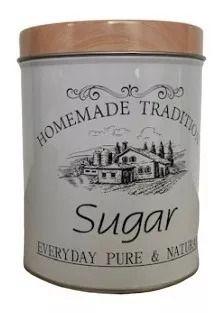 Lata Açúcar Branca Estilo Rústica