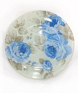 Prato para Lanche Flores Azul