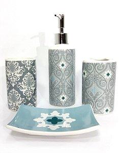 Kit para Banheiro - Arabesco Cinza