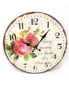Relógio de Parede - Flores