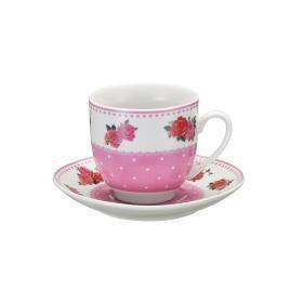 Jogo de Xícara para Café - Flores 8 Peças