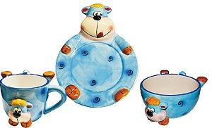 Kit para Lanche - Urso Azul