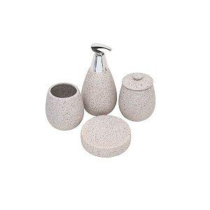 Kit 04 Peças para Banheiro Stone