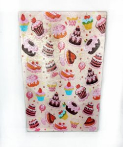 Tábua de Vidro - Cupcake AzulCupcakes e Docinhos