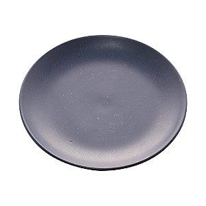 Conjunto de 02 Pratos Sobremesa de Cerâmica Granilite Azul
