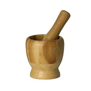 Pilão com Socador de  Bambu - Lyor