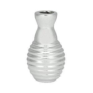 Mini Vaso Cerâmica Decor Bomb Prata