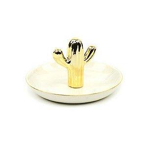 Porta Bijoux Cacto Baixo Dourado