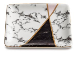 Mini Prato Decorativo Marble Triangle