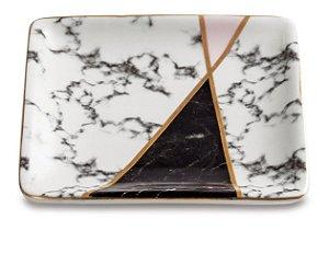Mini Prato Decorativo Marble Triangle