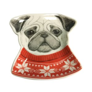 Mini Prato Decorativo Pug Dog