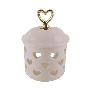 Porta Jóias em Porcelana Corações Vazados
