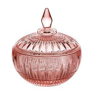 Potiche Decorativo Cristal de Chumbo Queen Rosa