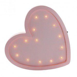 Luminária MDF Coração
