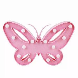Luminária Borboleta Rosa