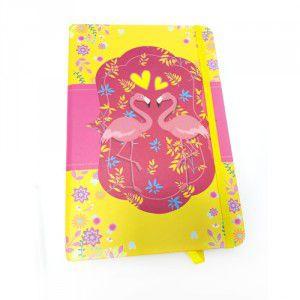 Caderno Capa Dura Flamingo