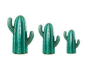 Kit Cacto Verde em Cerâmica
