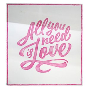 Tela All You Need is Love Rosa