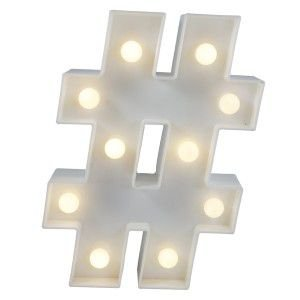 Luminária Hashtag