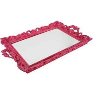 Bandeja com Espelho Marsele Pink