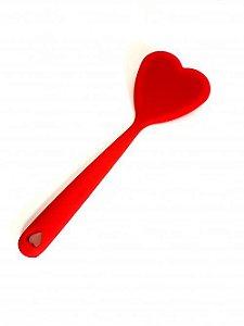 Espátula Silicone Coração