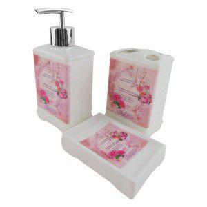 Kit para Banheiro - Paris Rosa