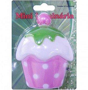 Mini Luminária de Tomada Cupcake