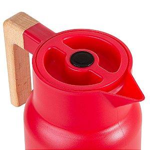 Garrafa Térmica Wood Vermelha  - TermoPro Glass