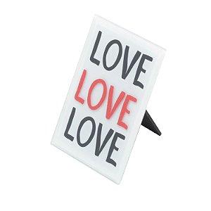 Placa de Vidro Mesa Decor Love Three