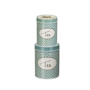 Conjunto de 2 Latas Tea Collection