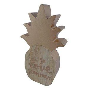 Abacaxi Decorativo Madeira Dourado